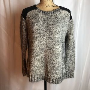 J Crew Marled Colorblock-Shoulder Sweater 07868